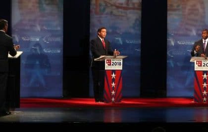 Florida Governor's Debate so Vicious a Racial Slur Was Spelled Out on Live TV