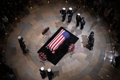 George H.W. Bush Lies in State at Capitol