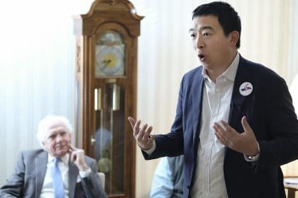 """Andrew Yang Promotes """"Human-Centered Capitalism"""" as Antidote to America's Woes"""
