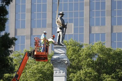 Workers Dismantling 75-foot Confederate Monument at NC Capitol